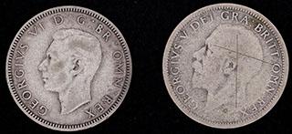 Великобритания. Лот из шиллингов 1929-1939 гг. 2 шт. Серебро