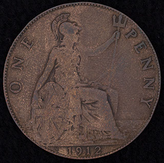 Великобритания. 1 пенни 1912 г. Медь