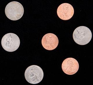 США. Лот из монет 2004-2009 гг. 7 шт.