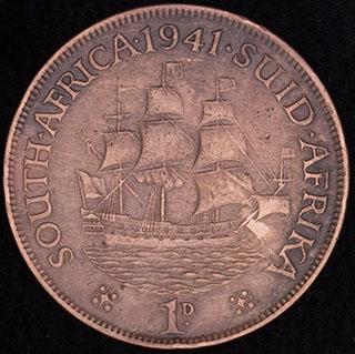 ЮАР. 1 пенни 1941 г. Медь