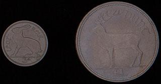 Ирландия. Лот из монет 1968-1990 гг. 2 шт.