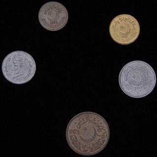 Пакистан. Лот из монет 1993-2015 гг. 5 шт.