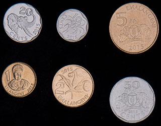 Свазиленд. Лот из монет 2015 г. 6 шт.
