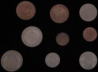 Ангола. Лот из монет 1958-1974 гг. 9 шт.