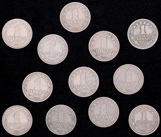 Югославия. Лот из динар 1965-1968 гг. 12 шт.