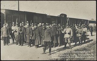 Групповая фотография военнопленных. Почтовая карточка
