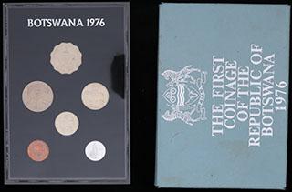 Ботсвана. Лот из монет 1976 г. 6 шт. В оригинальной упаковке