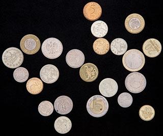 Лот из иностранных монет ХХ в. 23 шт.