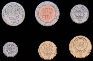 Руанда. Лот из монет 2003-2011 гг. 6 шт.