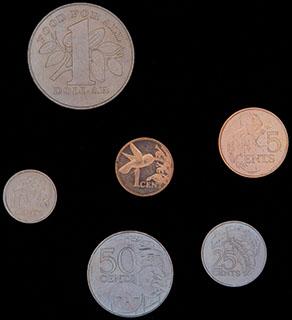 Тринидад и Тобаго. Лот из монет 1979-2007 гг. 5 шт.