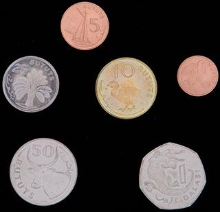 Гамбия. Лот из монет 1998-2008 гг. 6 шт.