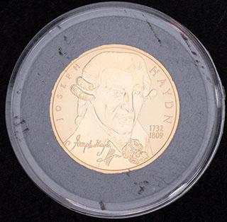 Австрия. 50 евро 2004 г. «Франц Йозеф Гайдн». Золото. Proof