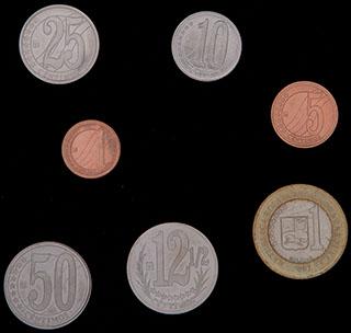Венесуэла. Лот из монет 2007-2009 гг. 7 шт.