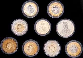 Лот из образцов иностранных монет 2002-2006 гг. 9 шт.
