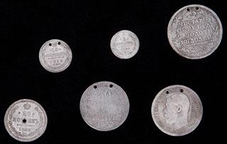 Лот из монет 1814-1913 гг. 6 шт.