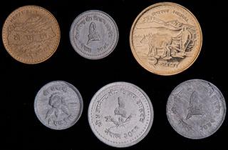 Непал. Лот из монет 1966-2009 гг. 6 шт.