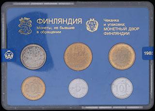 Финляндия. Лот из монет 1985 г. 6 шт. В оригинальной упаковке
