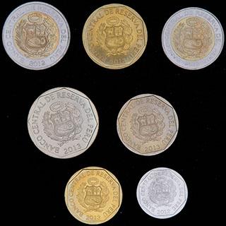 Перу. Лот из монет 2012-2013 гг. 7 шт.