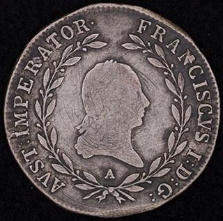 Австрия. 20 крейцеров 1815 г. Серебро