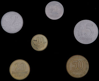 Литва. Лот из монет 1991-2010 гг. 6 шт.