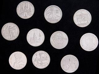 Лот из памятных рублей 1979-1991 гг. 10 шт.