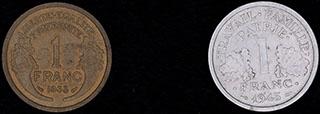 Франция. Лот из франков 1933-1943 гг. 2 шт.