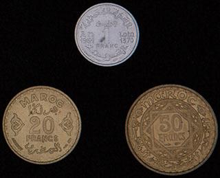 Марокко. Лот из монет 1951-1952 гг. 3 шт.