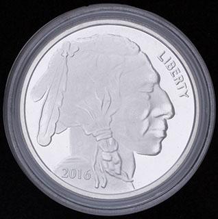 США. 1 унция серебра 2016 г.