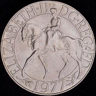 Великобритания. 25 пенсов 1977 г. «Cеребряный юбилей царствования Елизаветы II». Медно-никелевый сплав