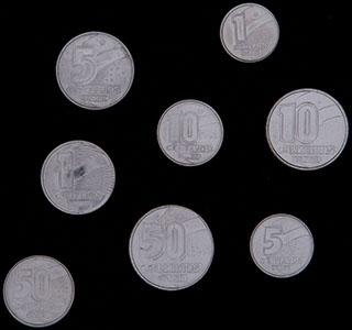 Бразилия. Лот из монет 1989-1992 гг. 8 шт.
