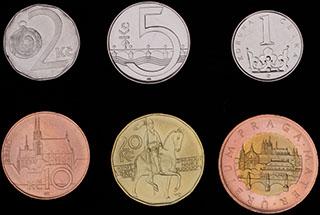 Чехия. Лот из монет 1993-2013 гг. 6 шт.