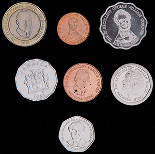 Ямайка. Лот из монет 1991-2005 гг. 7 шт.