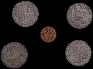 Португалия. Лот из монет 1979-1995 гг. 5 шт.