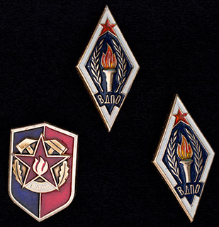Лот из знаков «Всероссийское добровольное пожарное общество». 3 шт.
